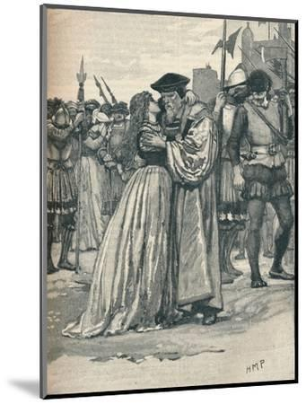 The parting of Sir Thomas More and his daughter, 1535 (1905)-Unknown-Mounted Giclee Print