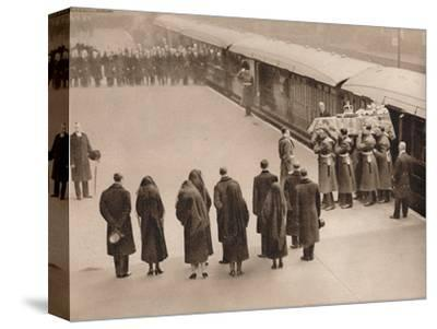 'Watching the coffin, covered by the Royal Standard', 1936-Unknown-Stretched Canvas Print