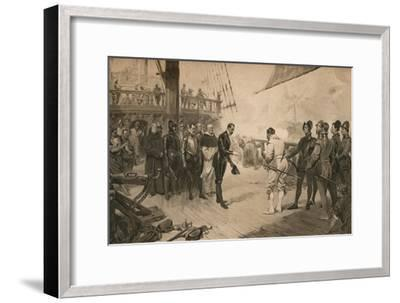 The surrender of Don Anton to Sir Francis Drake, 1 March 1579 (1905)-Unknown-Framed Giclee Print