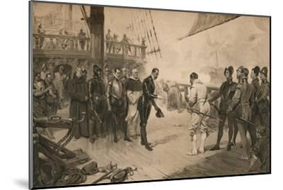The surrender of Don Anton to Sir Francis Drake, 1 March 1579 (1905)-Unknown-Mounted Giclee Print