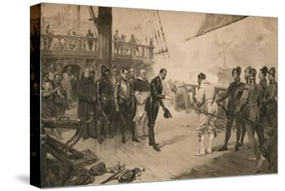 The surrender of Don Anton to Sir Francis Drake, 1 March 1579 (1905)-Unknown-Stretched Canvas Print