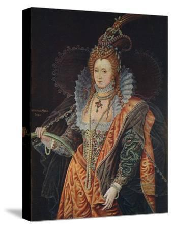 Queen Elizabeth I, 16th century (1905)-Unknown-Stretched Canvas Print