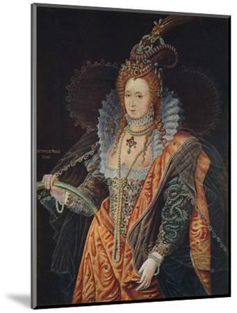 Queen Elizabeth I, 16th century (1905)-Unknown-Mounted Giclee Print
