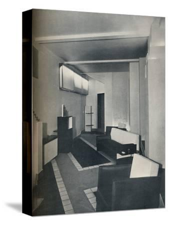 '1930s sitting room', 1930-Unknown-Stretched Canvas Print