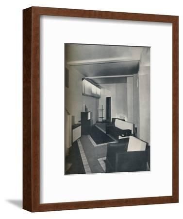 '1930s sitting room', 1930-Unknown-Framed Photographic Print