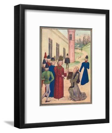 Froissart presenting his book of love poems to Richard II in 1395, 1905-Unknown-Framed Giclee Print