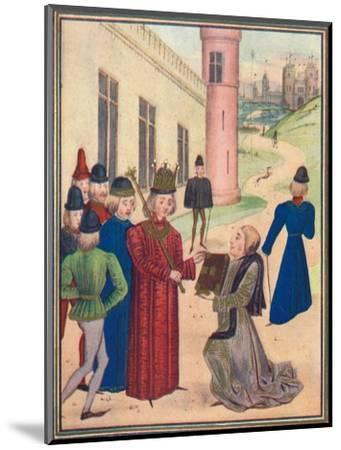 Froissart presenting his book of love poems to Richard II in 1395, 1905-Unknown-Mounted Giclee Print