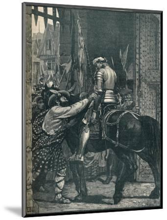 Edinburgh after the Battle of Flodden, 1513 (1905)-Unknown-Mounted Giclee Print
