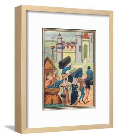 The landing of the Lady de Coucy at Boulogne, 1399 (1905)-Unknown-Framed Giclee Print