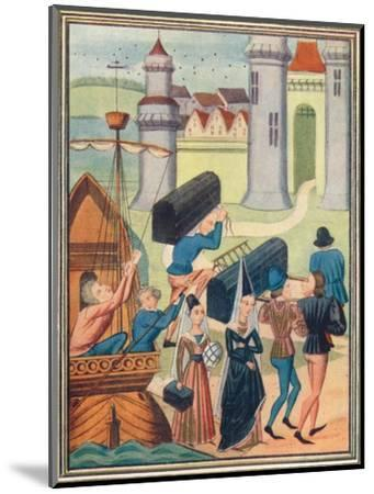 The landing of the Lady de Coucy at Boulogne, 1399 (1905)-Unknown-Mounted Giclee Print