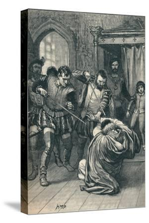 The assassination of Cardinal Beaton, 1546 (1905)-Unknown-Stretched Canvas Print