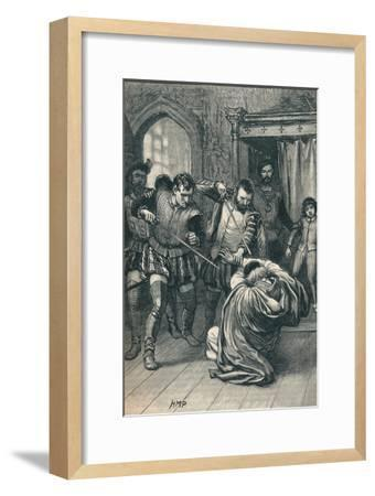 The assassination of Cardinal Beaton, 1546 (1905)-Unknown-Framed Giclee Print