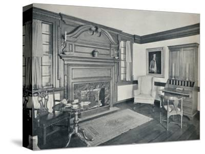'The Living Room of the Francis Corbin House, at Edenton, built in 1758', 1930-Unknown-Stretched Canvas Print