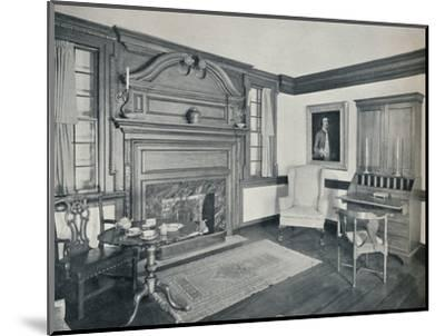 'The Living Room of the Francis Corbin House, at Edenton, built in 1758', 1930-Unknown-Mounted Photographic Print