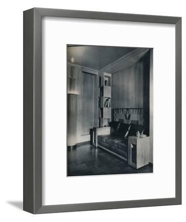 'Furniture and interior of a private office. Designed by Joseph Sinel', 1930-Unknown-Framed Photographic Print