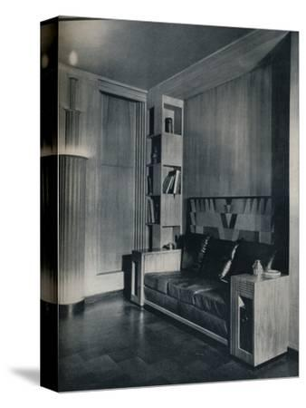 'Furniture and interior of a private office. Designed by Joseph Sinel', 1930-Unknown-Stretched Canvas Print