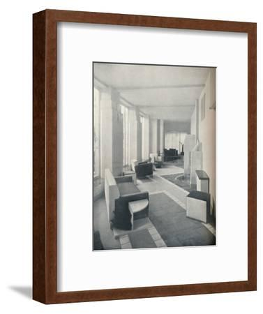 'View of the Sun Room in daylight, showing the three windows and columns', 1930-Unknown-Framed Photographic Print