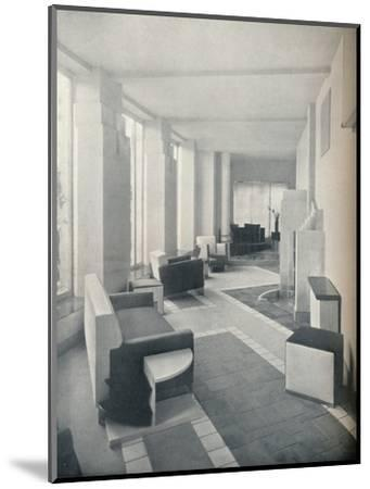 'View of the Sun Room in daylight, showing the three windows and columns', 1930-Unknown-Mounted Photographic Print