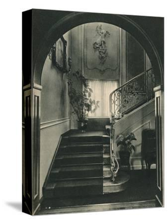 Haus H., Dresden: The Staircase. Designed by Professor E Haiger-Unknown-Stretched Canvas Print