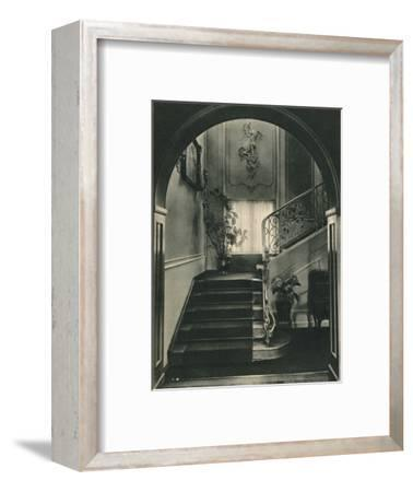 Haus H., Dresden: The Staircase. Designed by Professor E Haiger-Unknown-Framed Photographic Print