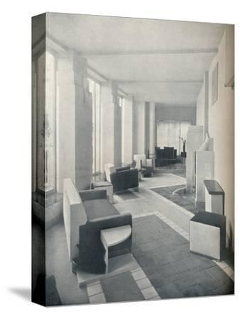 'View of the Sun Room in daylight, showing the three windows and columns', 1930-Unknown-Stretched Canvas Print