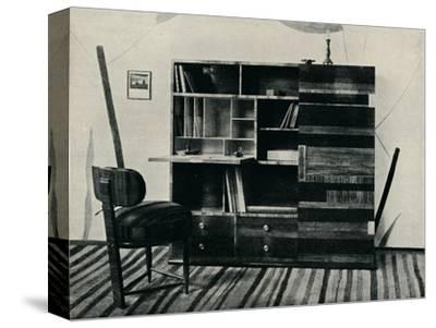 'Bookcase and Chair. Designed and executed by Hans Hartl', c1927-Unknown-Stretched Canvas Print