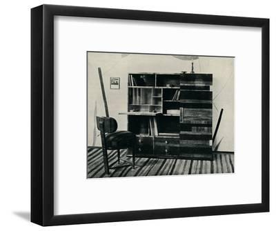 'Bookcase and Chair. Designed and executed by Hans Hartl', c1927-Unknown-Framed Photographic Print