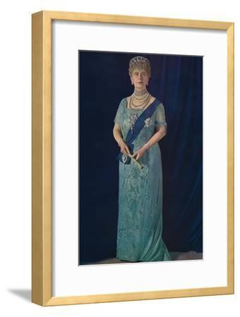 'The Widowed Queen: Her Majesty Queen Mary', 1936-Unknown-Framed Giclee Print