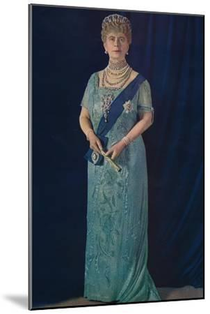 'The Widowed Queen: Her Majesty Queen Mary', 1936-Unknown-Mounted Giclee Print
