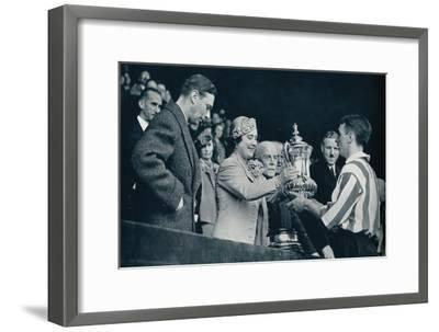'The Queen Presents The Cup', 1937-Unknown-Framed Giclee Print