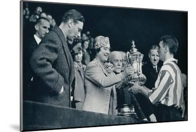 'The Queen Presents The Cup', 1937-Unknown-Mounted Giclee Print