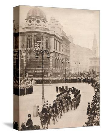 'The moving simplicity of King George's last journey through London', 1936-Unknown-Stretched Canvas Print