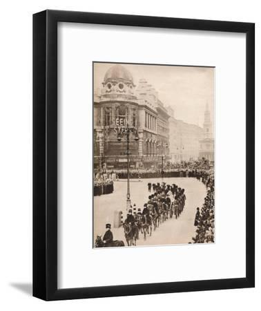 'The moving simplicity of King George's last journey through London', 1936-Unknown-Framed Photographic Print