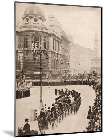 'The moving simplicity of King George's last journey through London', 1936-Unknown-Mounted Photographic Print