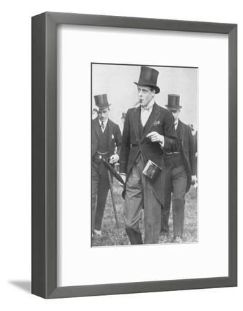 Derby Day, 1926: His Majesty, Ryder Cup contest at Southport', (1936)-Unknown-Framed Photographic Print