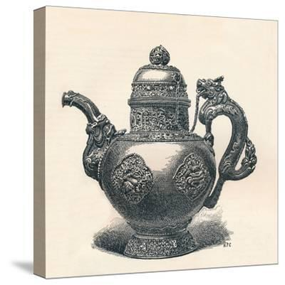 'Tibetan Tea-Pot with Dragon Spout and Handle Showing Chinese Influence', c1904-Unknown-Stretched Canvas Print