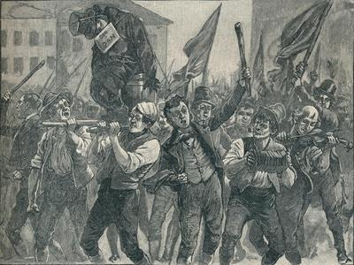 Scene in the Belfast riots, 19th century (1906)-Unknown-Framed Giclee Print