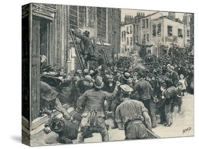 Scene in the Birmingham 'No Popery' riots', 1868 (1906)-Unknown-Stretched Canvas Print