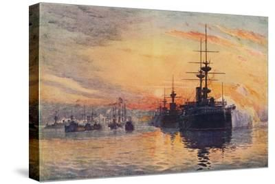 'Queen Victoria's Last Voyage, February 1, 1901', 1906-Unknown-Stretched Canvas Print