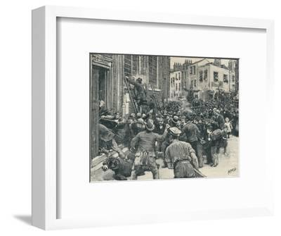 Scene in the Birmingham 'No Popery' riots', 1868 (1906)-Unknown-Framed Giclee Print