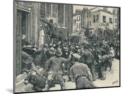 Scene in the Birmingham 'No Popery' riots', 1868 (1906)-Unknown-Mounted Giclee Print