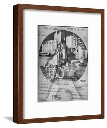 'International Exhibition, May to November', 1937-Unknown-Framed Giclee Print