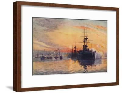 'Queen Victoria's Last Voyage, February 1, 1901', 1906-Unknown-Framed Giclee Print