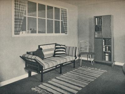 'Corner of living room designed by Prof. Karl Pullich', 1928-Unknown-Framed Photographic Print
