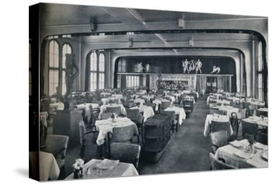 'First Class Dining Saloon on board Victoria', 1931-Unknown-Stretched Canvas Print