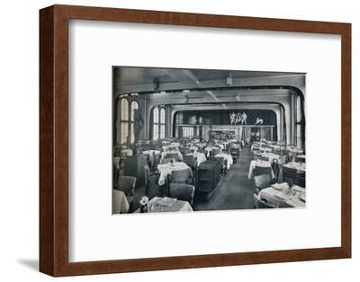'First Class Dining Saloon on board Victoria', 1931-Unknown-Framed Photographic Print