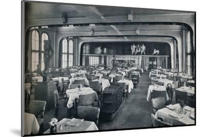 'First Class Dining Saloon on board Victoria', 1931-Unknown-Mounted Photographic Print