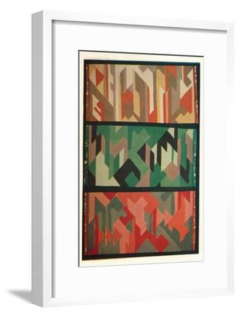 'Designs for Rugs by the Allgauer Handwebeteppiche', c1928-Unknown-Framed Giclee Print