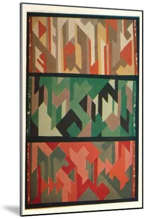 'Designs for Rugs by the Allgauer Handwebeteppiche', c1928-Unknown-Mounted Giclee Print