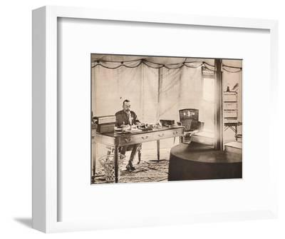 'King George with his pet parrot', 1936-Unknown-Framed Photographic Print